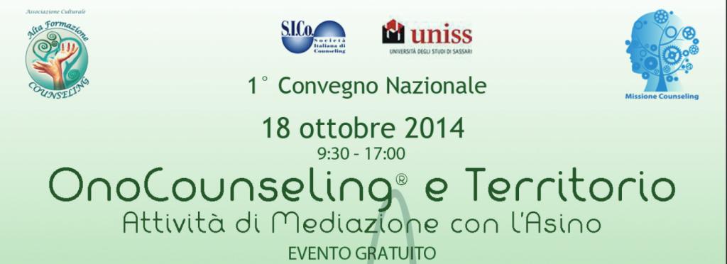 18 ottobre 2014 – 1° Convegno Nazionale Alta Formazione Counseling