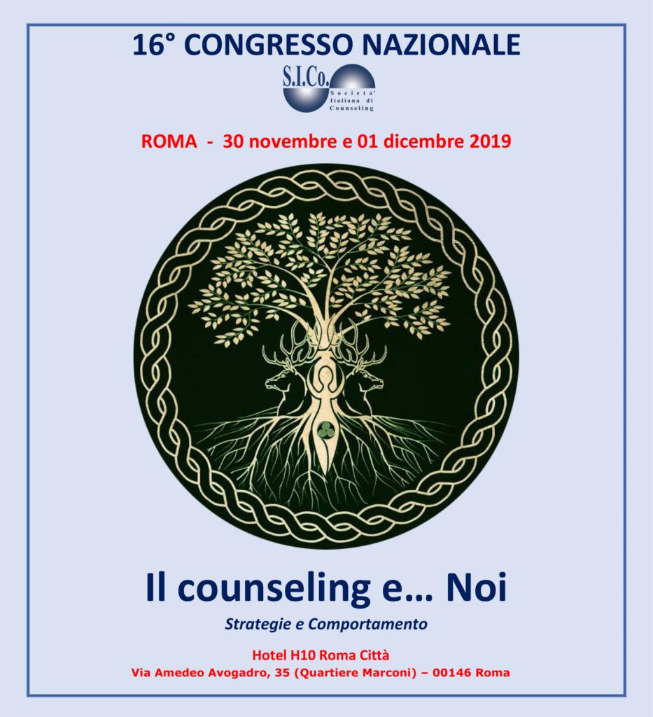 16° CONGRESSO NAZIONALE SICo – ROMA  30 novembre e 01 dicembre 2019