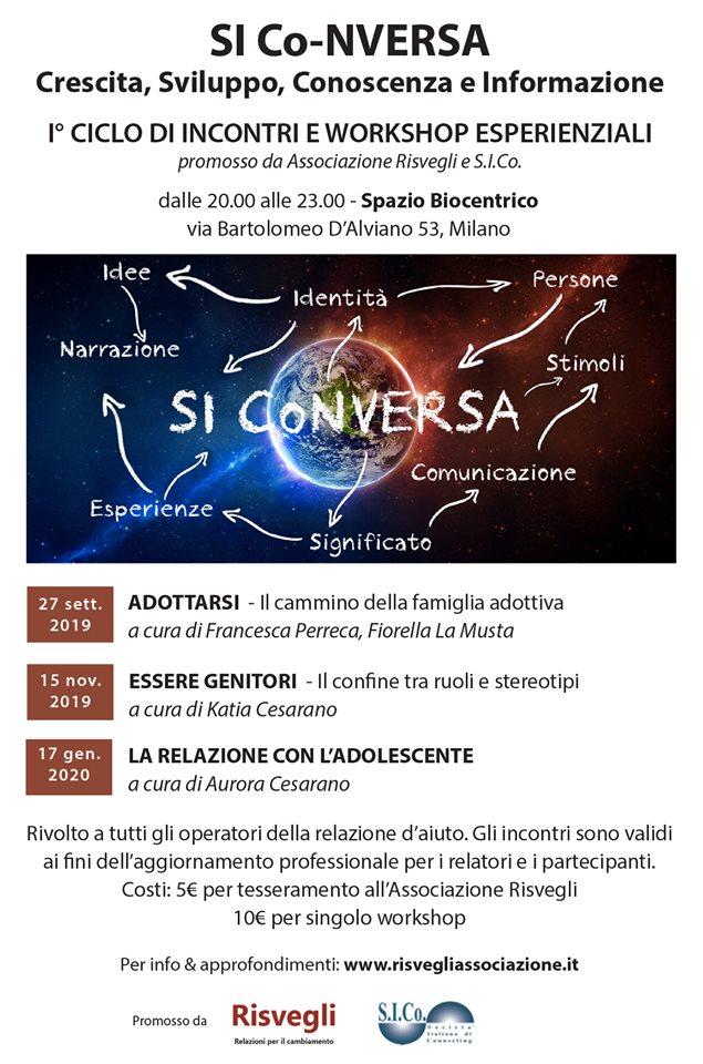 MILANO – SI Co-NVERSA – 1° Ciclo di incontri e workshop esperenziali – Associazione Risvegli