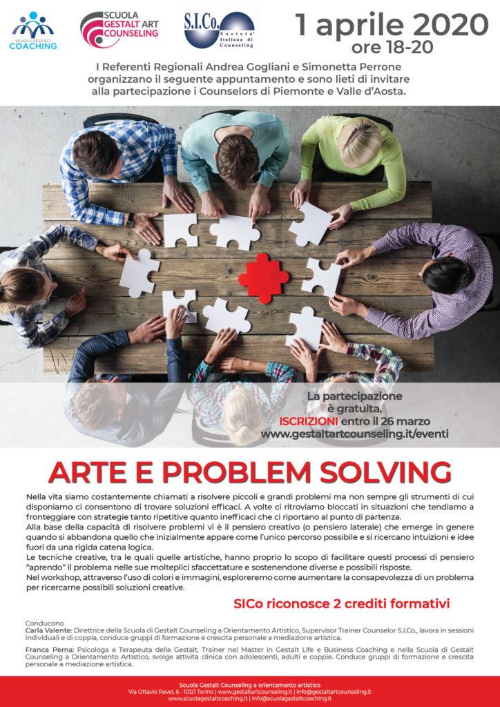 TORINO (TO)  01 aprile 2020 – ARTE e PROBLEM SOLVING – Scuola Gestalt Counseling a orientamento artistico