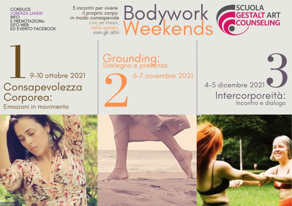 TORINO (TO) – Dal 9-10 ottobre 2021 – Primo incontro dei seminari Bodywork Weekends – Scuola Gestalt Counseling ad Orientamento Artistico