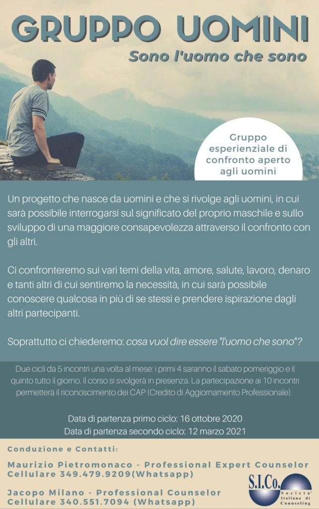 """TORINO (TO)  Dal 16 ottobre 2021 – """"Sono l'uomo che sono"""" – Dr. Maurizio Pietromonaco – Professional Expert Gestalt Bodywork Counselor"""